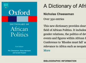 Dictionary of African Politics Cover