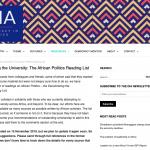 Decolonizing the Academy: African Politics Reading List