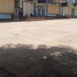 Boarded up businesses in Lilongwe
