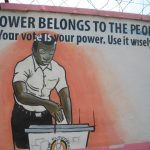 The wall of the Electoral Commission in Kampala/Graeme Young