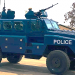 Newly procured riot-squad vehicles and equipment, Lusaka, 20th August 2020. Credit- Lusaka Times, 26th September 2020.