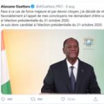 A tweet from President Ouattara