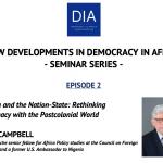 NEW DEVELOPMENTS IN DEMOCRACY IN AFRICA