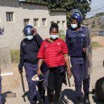 Zanele Maseko being arrested