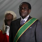 Robert Mugabe during his swearing-in ceremony in Harare, 2008/EPA-EFE