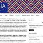 Decolonizing the University Reading List: African Politics