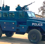 Newly procured riot-squad vehicles and equipment, Lusaka, 20th August 2020. Credit: Lusaka Times, 26th September 2020.