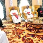 Bishops visit President Teodor Obiang, June 2017/SOURCE: https://www.pdge-guineaecuatorial.com/los-obispos-visitan-al-presidente/